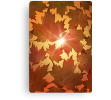 Autumn Leaves Fall Season Canvas Print
