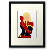 Captain Marvel Simplistic Framed Print