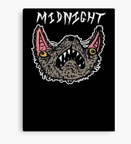 Midnight Black Canvas Print