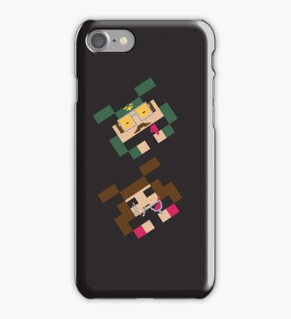 SPACED INVADERS (MIKE & MARSHA) iPhone Case/Skin