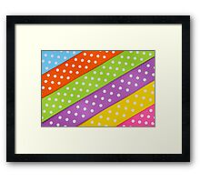Colorful ribbon Framed Print