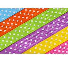 Colorful ribbon Photographic Print