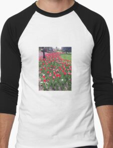 Tuesday Tulips Men's Baseball ¾ T-Shirt