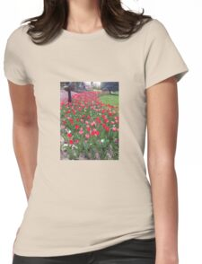 Tuesday Tulips Womens Fitted T-Shirt