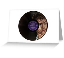 Alex Turner Record Portrait  Greeting Card