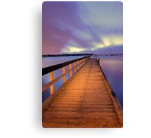 Jetty At Dawn  Canvas Print