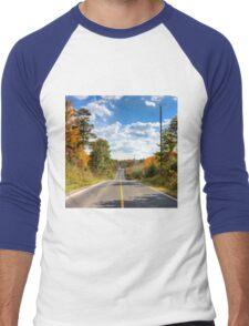 Autumn Road to Nowhere Men's Baseball ¾ T-Shirt