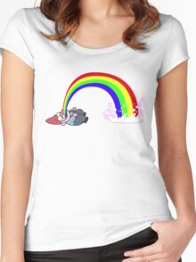 Gravity Falls Puking Gnome Women's Fitted Scoop T-Shirt