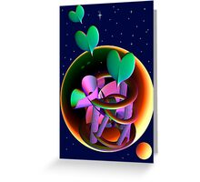Love in universe Greeting Card
