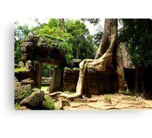 Ta Prohm Temple II - Angkor, Cambodia. Canvas Print
