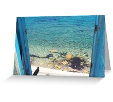 The Door To The Aegean... Greeting Card