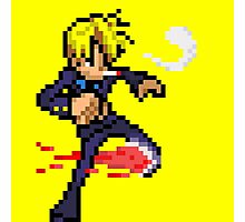 Sanji Pixel Art Photographic Print