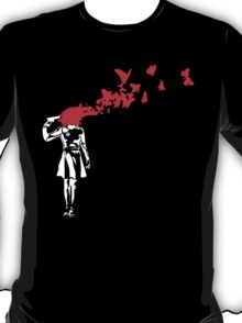 Banksy Butterfly Suicide T-Shirt