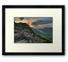 Haystacks Framed Print