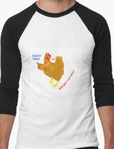 Angry Chicken 3 Men's Baseball ¾ T-Shirt