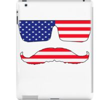 Cool mustache patriot  iPad Case/Skin