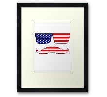 Cool mustache patriot  Framed Print