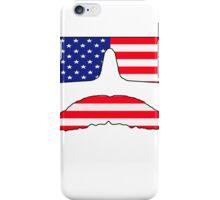 Cool mustache patriot  iPhone Case/Skin