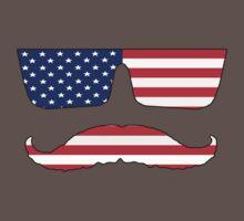 Cool mustache patriot  Kids Clothes