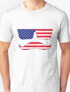 Cool mustache patriot  T-Shirt