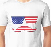 Cool mustache patriot  Unisex T-Shirt