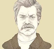 It's Ron Swanson by Emma de Mattos