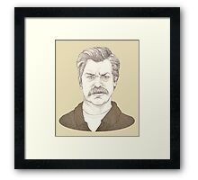 It's Ron Swanson Framed Print