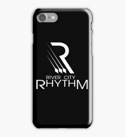 River City Rhythm - White on Black logo iPhone Case/Skin