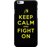 Keep Calm and Fight On (Black iPhone Case) iPhone Case/Skin