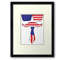 Cool classy  patriot  Framed Print