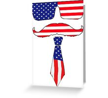 Cool classy  patriot  Greeting Card