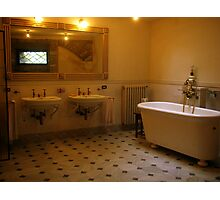 A smart old bathroom Photographic Print