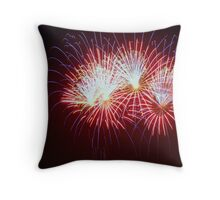 Blue, Red, White Throw Pillow