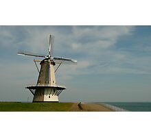 A seaside mill at Vlissingen Photographic Print