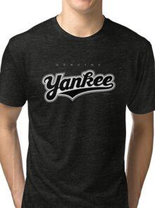 GenuineTee - Yankee(blackwhiteblack) Tri-blend T-Shirt