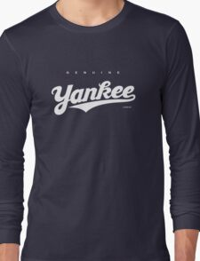 GenuineTee - Yankee (white) Long Sleeve T-Shirt