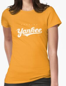 GenuineTee - Yankee (white) Womens Fitted T-Shirt