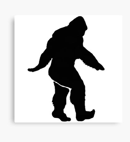 Bigfoot Silhouette  Canvas Print