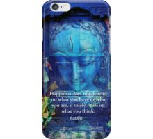 Buddha Happiness quotation  iPhone Case/Skin