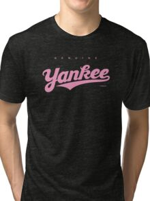 GenuineTee - Yankee (purple) Tri-blend T-Shirt