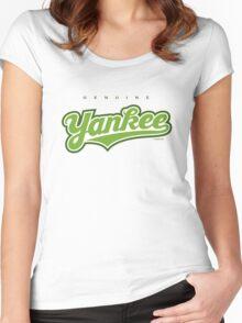 GenuineTee - Yankee(greenwhitegreen) Women's Fitted Scoop T-Shirt