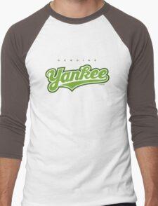 GenuineTee - Yankee(greenwhitegreen) Men's Baseball ¾ T-Shirt