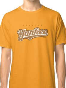 GenuineTee - Yankee (brownwhitebrown) Classic T-Shirt