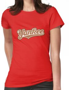 GenuineTee - Yankee (brownwhitebrown) Womens Fitted T-Shirt