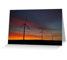 Windmill Power Greeting Card