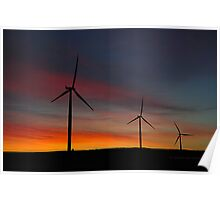 Windmill Power Poster