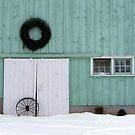Wagon Wheel and Wreath by Brian Gaynor