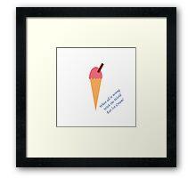 Eat Ice Cream Framed Print