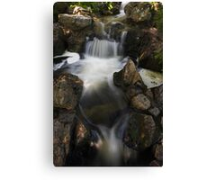 Waterfall with Spotlights Canvas Print
