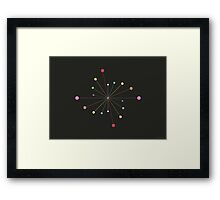 Atomic Dance Movement #1 (abstract graphic art) Framed Print